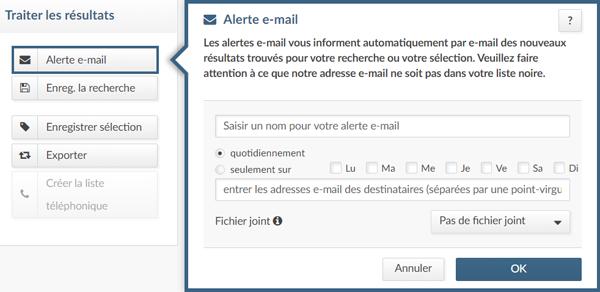 alerte e-mail dans index Advertsdata