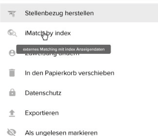 Schnittstelle aus PERSY zu index Anzeigendaten
