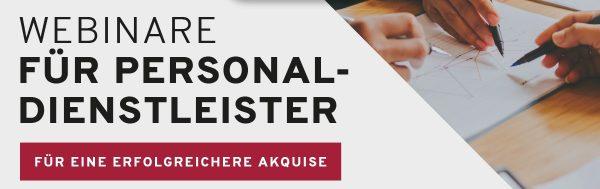 Webinare für Personaldienstleister - für eine erfolgreichere Akquise