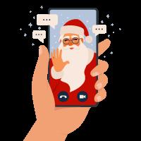 Nikolaus auf Smartphone
