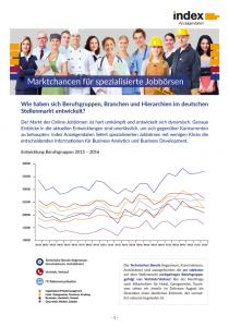 Marktchancen für spezialisierte Jobbörsen