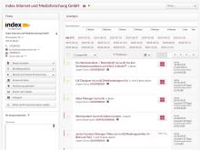 Schnittstelle zu index Anzeigendaten im CRM-System