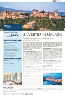 Sonderthema Reise Silvester in Malaga
